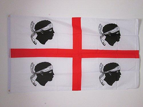 AZ FLAG Bandiera Sardegna 150x90cm - Bandiera SARDA - Italia 90 x 150 cm