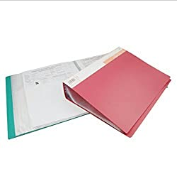 TOTAL HOME: A4 Display Book Presentation Documents Storage Portfolio Folder 100 Pockets:(color random)