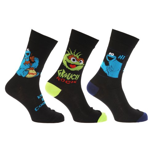 sesame-street-chaussettes-fantaisie-lot-de-3-paires-homme-eur-39-45-motif-1