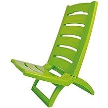 54196c53e0bd34 Chaise de plage en plastique coloré pliable Set of 1 vert clair