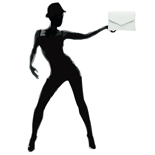 CASPAR TL772 Damen Envelope Lederhandasche / Umhängetasche / Clutch aus samtweichem Nappaleder Weiß