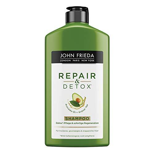 John Frieda Repair & Detox* Shampoo - Mit Avocado-Öl Und Grüntee - Für Strapaziertes Haar, 2er Pack (2 X 250 Ml)