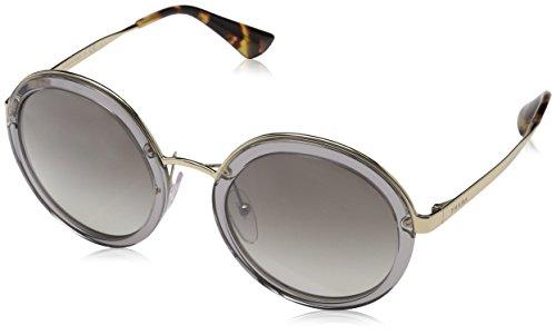 Prada Damen 0PR50TS BRU4S1 54 Sonnenbrille, Grau (Transparent Light Grey)