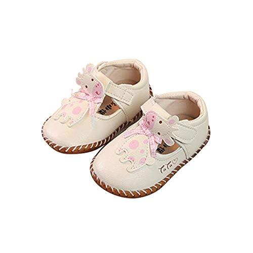 d7a87b03f51f DEBAIJIA Bébé Filles Chaussures Princess, Chaussures Premier Pas Dessin  Animé de Giraff pour Enfants Tout-Petits 12-18 Mois, Chaussons Filles  Semelle Souple ...