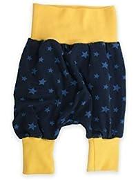 "bébé Pantalon bouffant Pantalon mitwachsen ""étoiles"" marine Sarouel Pantalon jersey de Petit Rois"