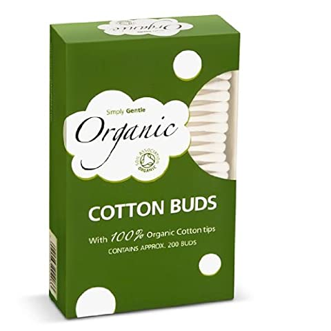 3 Packs Simply Gentle Organic Cotton Buds (3 x 200 Buds) (3 Packs (600 Buds Approx))