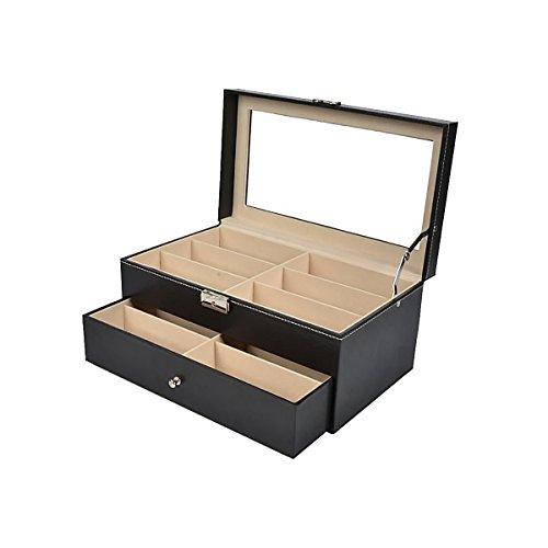 HooAMI Glaeser Vitrine Brillenbox aufbewahrungsbox 12 kasten schmuck Brillenkoffer Haarnadel schmuckschatulle