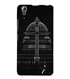 Fuson Premium Back Case Cover Masid With Red Background Degined For Lenovo A6000 Plus