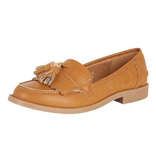 32b0dc9cbc9 Womens Dolcis Dorset Flat Loafers - Tan - UK5 - EU38 - Buy Online in Oman.