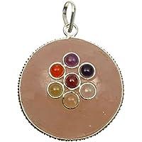 Harmonize 7 Chakra Rose Quarz Stein runde Form Anhänger Reiki Healing Kristall Locket preisvergleich bei billige-tabletten.eu