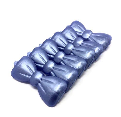 Artikelbild: Hunde-Haarspange 6 Stück perlmutt -blau 27