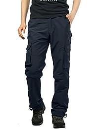 d2fb61deef Pantalones de Hombre Pantalones Deportivos Al Aire Libre Secado rápido  Pantalones Casuales Sólido Suelto Persona Que