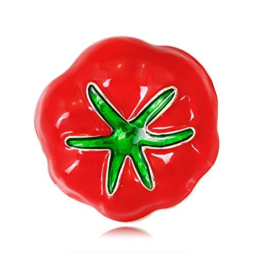 (Leisial Halloween Broschen für Kleidung Halloween Brosche Halloween-Kostüm Dekorative Brosche Tomate Dekoration 3.6 * 3.5CM)