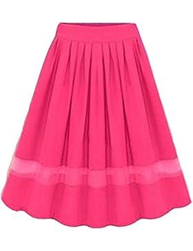 Moollyfox Mujer Faldas De Tul Evasé Plisada Largas De Fiesta Con Vuelo Rose FreeSize