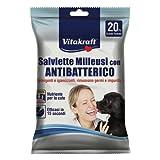 Vitakraft Pet Company Salviette milleusi con antibatterico, 20 pezzi grande formato
