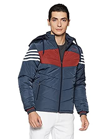 Qube By Fort Collins Men's Bomber Jacket (14652_M_Blue)
