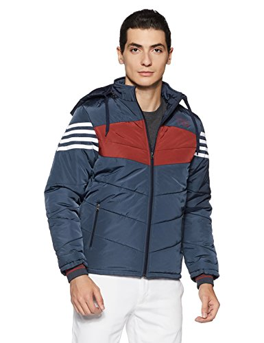 Qube by Fort Collins Men's Bomber Jacket (14652_L_Blue)