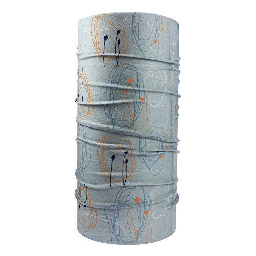 Ebos, fascia multifunzione di alta qualità (sciarpa, bandana, foulard, scaldacollo, ecc.), per motocicletta, snowboard, moda, ecc. , kringel und blüten