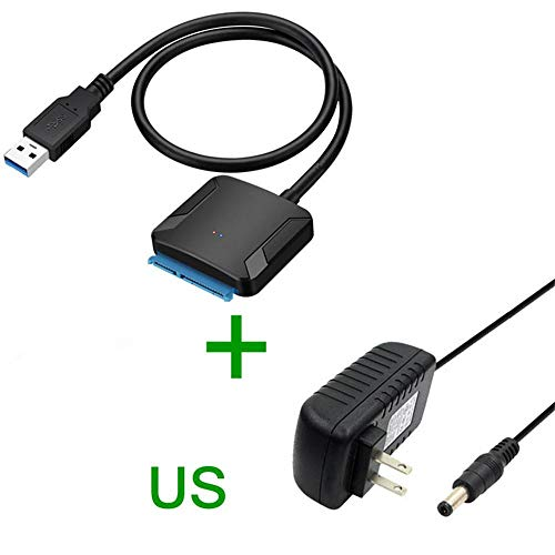 SUNDELLAO USB 3.0 to Sata Adapter Converter Cable USB3.0 Hard Drive Converter Cable for Samsung Seagate WD 2.5 3.5 HDD SSD Adapter, 0.2m2 Dc-tv-dvd-combo