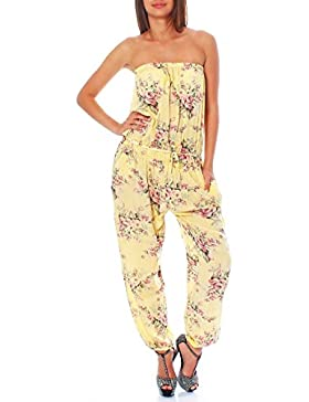 malito Jumpsuit Einteiler Overall Hosenanzug geblümt 1495 Damen One Size