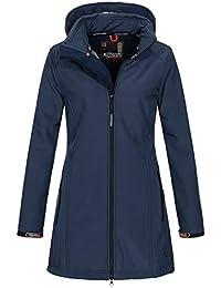 A. Salvarini Damen Softshell Jacke wasserabweisend Outdoor lang AS-131