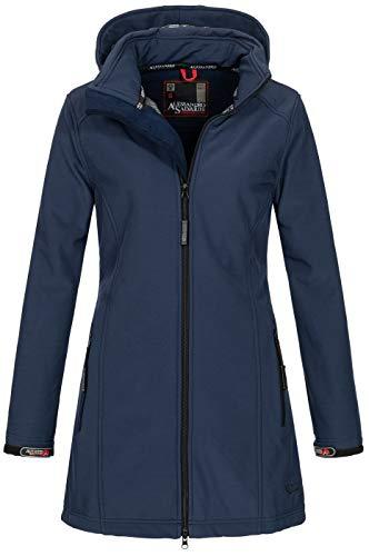 A. Salvarini Damen Softshell Jacke wasserabweisend Outdoor lang AS-131 [AS-131-Navy-Gr.M]