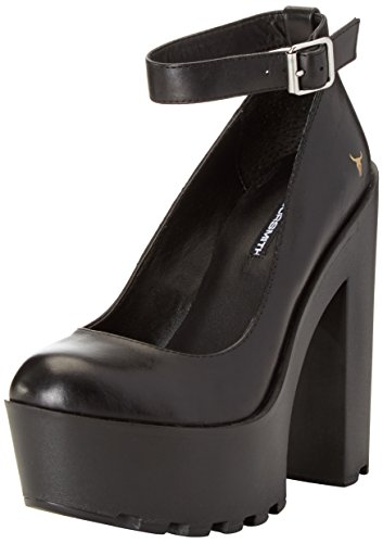Windsor Smith Damen Runt Pumps Schwarz (pelle Nera)