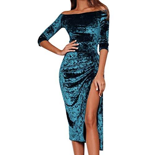 JYJM Weihnachten Frauenkleidung Damen Kleid mit Langen Ärmeln Womens Off Schulter Samt Kleid Abend Party Loose Dress EIN Wort Schulter Samtkleid Camouflage Hose Bikini Set taufkleidung mädchen