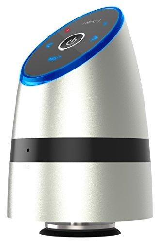 Tragbarer Bluetooth Lautsprecher Speaker BSV-1126-S Vibrationslautsprecher Bass Vibrations-Resonanz-Lautsprecher 26W mit Bluetooth 4.0 + EDR und NFC für Smartphone und Mp3 Player bis zu 5 Std. | Silber