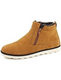 Botas para la Nieve para Hombre Zapatos de Senderismo de Invierno Resistentes al Agua al Aire