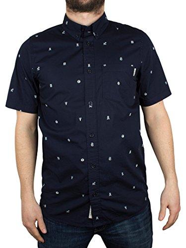 Carhartt Herren Drop Cap All Over Print Shortsleeved Shirt, Blau Blau