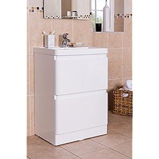 Aquariss Badmöbel Badezimmermöbel Waschbecken Unterschrank Freistehend 800mm Weiß
