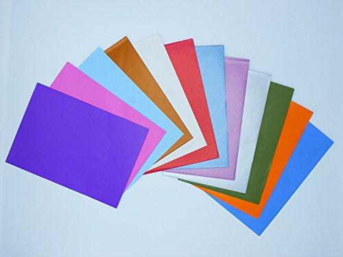 Paquete de sobres Cuartilla de varios colores. Alta calidad. 150 unidades. Tamaño 23x16 cm.