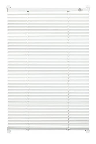 Gardinia Alu-Jalousie zum Klemmen, Sicht-, Licht- und Blendschutz, Alle Montage-Teile inklusive, Aluminium-Jalousie mit 2 Bedienschienen, Weiß, 80 x 130 cm - Weiße Holz-jalousien