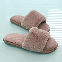 Nikai slippers women,Autumn and winter new slippers, warm home fur mop opening non-slip parent-child cotton mop