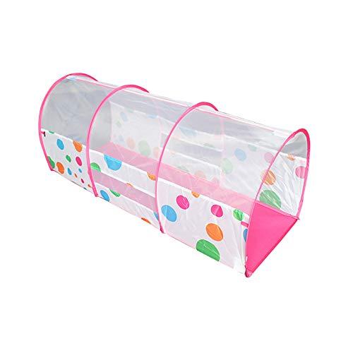 nel, Punktdruck Bogen Pop Up Tunnel Spielzelt für Kinder Tragbare Indoor & Outdoor Kleinkind Kleinkinder spüren frühe Bildung Spiel Spielzeug 130 cm,Pink ()
