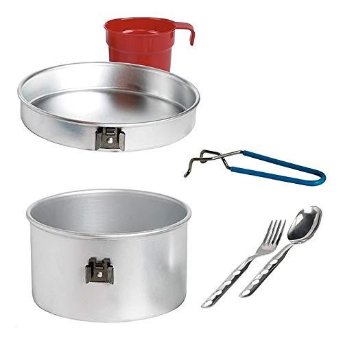 Laken Fiambrera aluminio 1,25 Liter Aluminium Cooking Set 1 Person 1.25 L. w/Cutlery and Cup