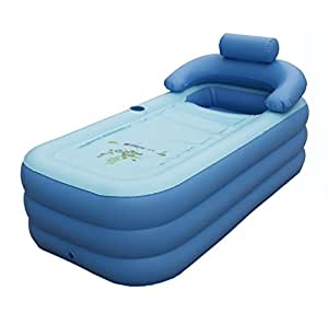 intime pliable gonflable pais adultes chauds baignoire enfants piscine gonflable bleu. Black Bedroom Furniture Sets. Home Design Ideas