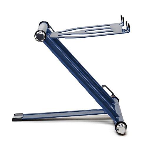 CRANE Stand Classic Universal Ständer für Laptops, Tablets und Projektoren mit Nylon Tragetasche, navy blau