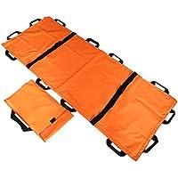 Camilla de Rescate,Camilla portátil de Rescate de Emergencia, Lona Gruesa, 12 Asas, Camilla médica de Primeros Auxilios Suave para el hogar, con Bolso (Color : Orange)