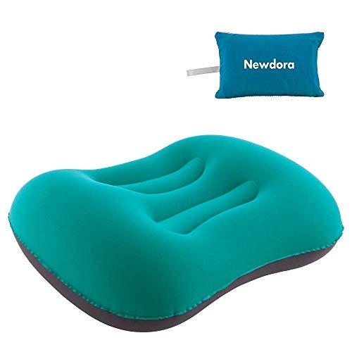 Aufblasbares Newdora-Kissen, Campingkissen, aufblasbares Reisekissen, ultraleichtes aufblasbares Kissen, geeignet für Camping, Strand, Reisen, Bergsteigen und Flugzeug, Grün