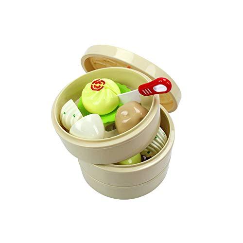 16Pcs Kinder chinesischen Snack Schneiden Dampfer Spielzeug-Set Pretend Lebensmittel Spielzeug Simulation Lebensmittel Gemüse Brötchen Schneiden Spielzeug Educational Spielset für Kinder