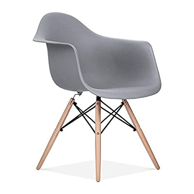 Charles & Ray Eames Style Style DAW Eiffel Dining Lounge Chair (Grey) - low-cost UK light shop.