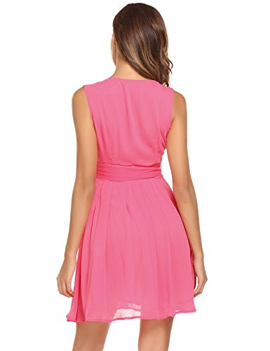 Modfine - Robe - Manches Courtes - Femme Rouge