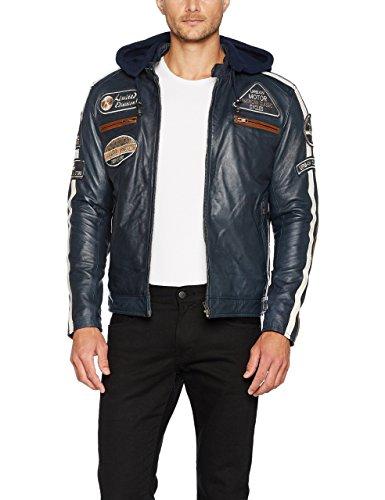 Urban Leather 58 Gents, Giacca da Uomo Men's, Navy Blu, XL