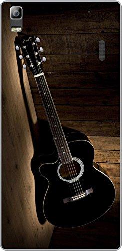 Shengshou Guitar Design Mobile Back Cover for Lenovo K3 Note A7000 - Black Brown