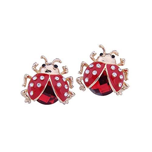 JoyRolly Ohrringe für Teen Mädchen Frauen Marienkäfer Ohrstecker Rot