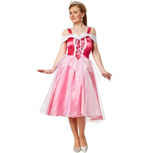 Prinzessin Kostüm Disney Aurora - dressforfun Kostüm Prinzessin Aurora | Abendkleid zum Schnüren mit eingenähtem Tüll-Unterrock (L | no. 301875)