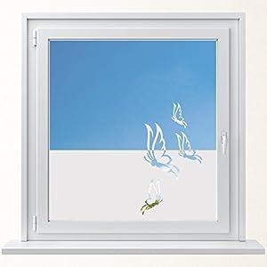 DD Dotzler Design 6416-1 individuelle Sichtschutzfolie Fensterfolie Milchglas 4 Schmetterlinge