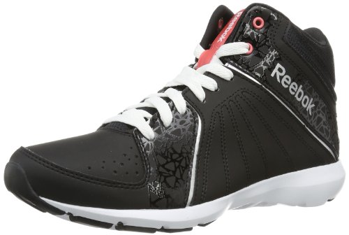 Reebok Studio Beat Vi Mid Rs, Chaussures d'athlétisme femme Multicolore - Mehrfarbig (BLACK/WHITE/PURE SILVER/VICTORY PINK)